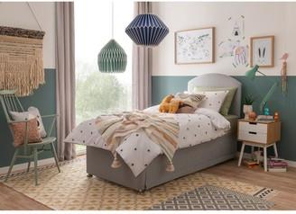 Silentnight Maxi Store Divan Bed Set with Kids Sprung Mattress and Headboard - Grey