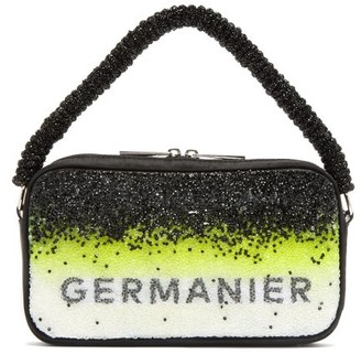 Germanier - Degrade-crystal Logo-print Handbag - Womens - Yellow Multi