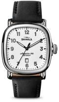 Shinola The Guardian Leather Strap Watch