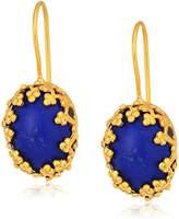 Saachi 18K Clad Filigree Drop Earrings with Accents