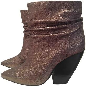 IRO Metallic Leather Boots