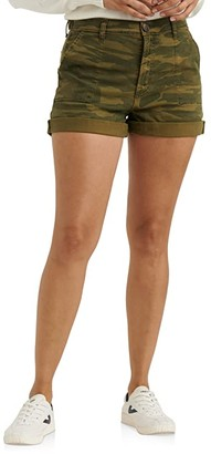 Lucky Brand Mid-Rise Cargo Shorts (Classic Camo) Women's Shorts
