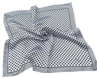 Fat Catz Copy Catz 4 Colours: Small 50cm Square Polka Dots Spotted neck silk satin feel ladies fashion scarf - posted from London by Fat-Catz-copy-catz (White/black polka dots 50cm scarf)
