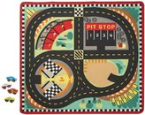 "Melissa & Doug Round the Speedway Race Track Rug Vehicle - 39"" x 36"""