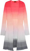 Missoni Ombré Crochet-knit Cardigan - Pink