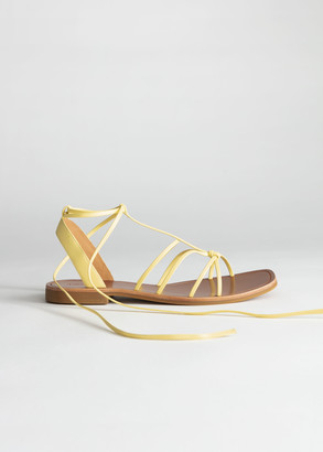 And other stories Knotted Leather Lace Up Sandals