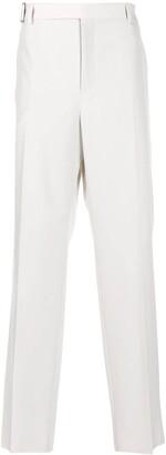 Valentino Side-Fastening Straight-Leg Trousers