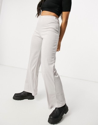 Sixth June high waisted relaxed trousers in stretch sparkle co-ord