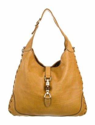 Gucci Large Cervo New Jackie Hobo Brown