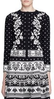 Alexander McQueen Floral Jacquard Cardigan, Black/White