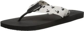 Havaianas Men's Urban Series Flip Flop Sandal Black/White 8 M US