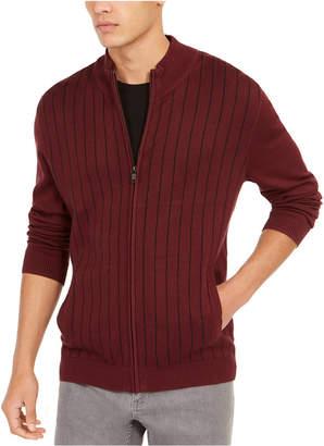 Alfani Men Classic-Fit Vertical Stripe Full-Zip Cardigan