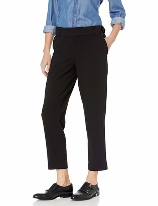 Kensie Women's Stretch Crepe D-Ring Pant