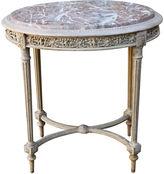 One Kings Lane Vintage Louis XVI-Style Table w/ Marble Top