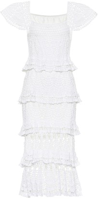 Anna Kosturova Cotillion crochet maxi dress