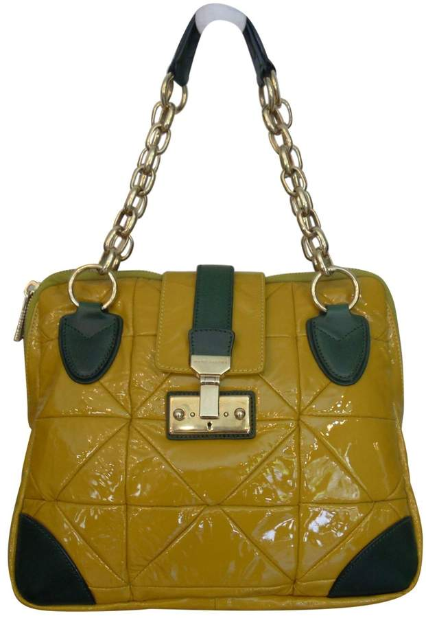 Marc Jacobs Yellow Patent leather Handbag