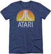 Atari Video System Yellow Sun Logo Distressed Adult Tri-Blend T-Shirt Tee