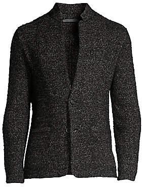 John Varvatos Men's Classic Wool & Linen Knit Blazer