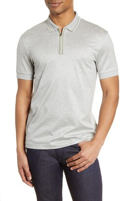 HUGO BOSS Paras Heathered Cotton Polo Shirt