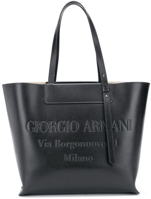Giorgio Armani Embossed Logo Tote