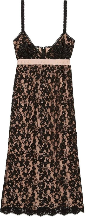 Gucci Black Lace Mid-length Dress