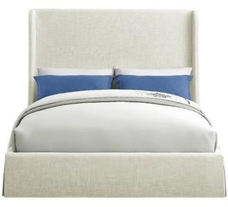 Winston Porter Abels Upholstered Platform Bed Size: Queen, Color: Beige