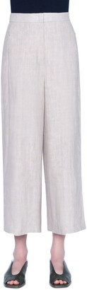 Akris Punto Filip Washed Linen Crop Pants