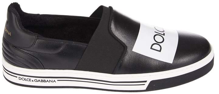 Dolce & Gabbana Logo Slip On Sneakers