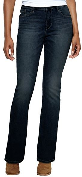 Levi's midrise skinny bootcut jeans
