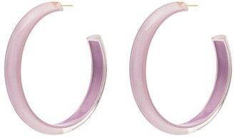 Alison Lou medium Loucite jelly hoop earrings