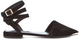 Senso Women's Fleur II Pointed Suede Toe Flats Ebony