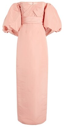 Monique Lhuillier Puff-Sleeve Gown