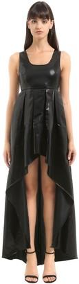 Cc By Camilla Cappelli Asymmetric Striped Lame Dress