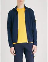 Stone Island Full-zip cotton-jersey jumper