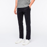 Paul Smith Men's Slim-Fit Dark Navy Brushed-Cotton Chinos