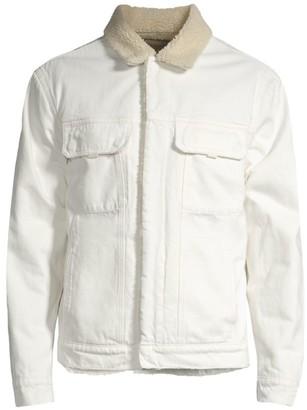 Hudson Jeans Faux Fur Collar Trucker Jacket