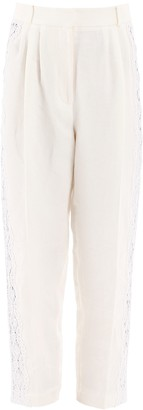 Alexander McQueen Lace Band High-Waisted Trousers