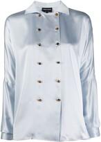 Giorgio Armani double-breasted silk blouse