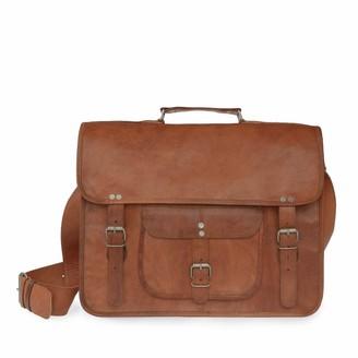 Vida Vida Vida Vintage Classic Leather Satchel - Grande