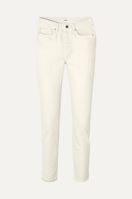GRLFRND Karolina Mid-rise Slim-leg Jeans - Cream