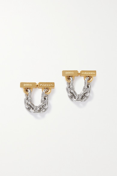 Paco Rabanne Gold- And Silver-tone Earrings - one size