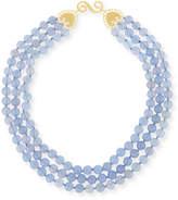 Splendid Beaded Lavender Blue Chalcedony Necklace