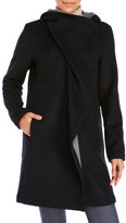Vince Camuto Hooded Wrap Front Coat