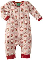 Little Green Radicals Cat Print Playsuit (Baby) - Pink-9-12 Months