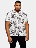 TopmanTopman BIG & TALL Ecru and Black Floral Print Shirt*