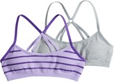 Hanes Girls 7-16 2-pack Seamless Molded Racerback Wire Free Bralettes