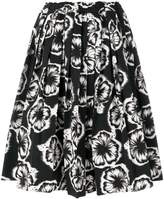 Prada hibiscus printed skirt