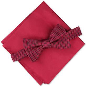 Alfani Men Mini Neat Pre-Tied Bow Tie & Solid Pocket Square Set