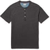 Faherty Indigo-Dyed Slub Cotton-Jersey Henley T-Shirt