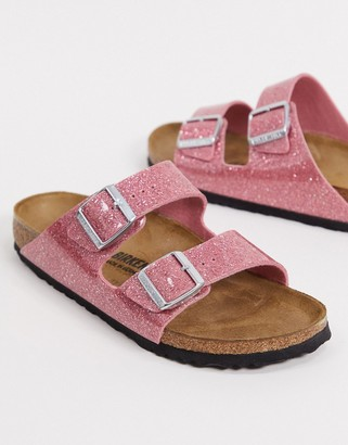 Birkenstock Arizona sandal in cosmic sparkle pink